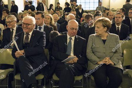 Angela Merkel, Norbert Lammert and Frank-Walter Steinmeier