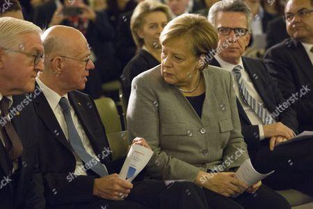 Angela Merkel, Norbert Lammert, Frank-Walter Steinmeier and Thomas de Maiziere