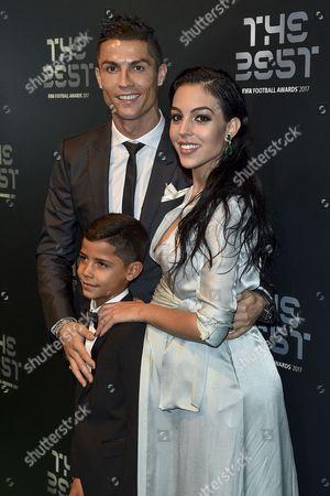 Cristiano Ronaldo, Cristiano Ronaldo Jr and Georgina Rodriguez