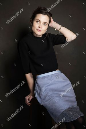 Stock Image of Gitte Witt poses for a portrait at Quaker Good Energy Lodge with GenArt and the Collective, during the Sundance Film Festival, on in Park City, Utah