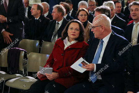 Andrea Nahles and Norbert Lammert