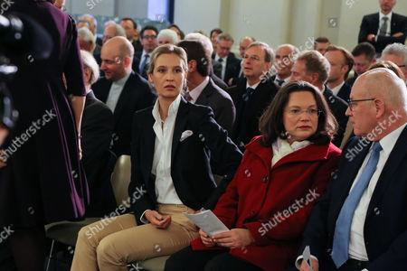 Alice Weidel, Andrea Nahles and Norbert Lammert