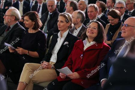 Wolfgang Thierse, Katrin Göring-Eckardt, Alice Weidel, Andrea Nahles, Norbert Lammert