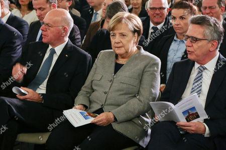 Norbert Lammert, Bundeskanzlerin Angela Merkel, Thomas de Maiziere