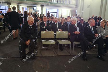 Wolfgang Schäuble, Frank-Walter Steinmeier, Norbert Lammert, Bundeskanzlerin Angela Merkel