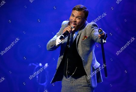"""Stock Image of Jidenna performs during EBONY magazine's 30th Annual Power 100 Gala in Beverly Hills, Calif. Jidenna, who is putting the final touches on his debut album, is nominated for a Grammy for best rap/sung collaboration for his """"Classic Man"""" single, which features Roman GianArthur"""