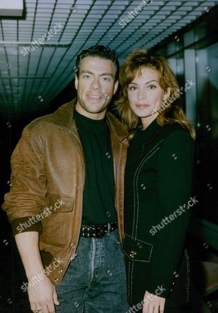 Actor Jean-claude Van Damme With Girlfriend American Actress And Model Darcy Lapier At Heathrow Airport. Box 771 1010071732 A.jpg.
