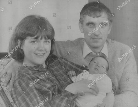 Editorial picture of Carol Danes And Husband Bob With Newborn Daughter Susannah. The Couple Met When Bob An Raf Winchman Rescued Carol From A Sea Plane Crash In Which Her Husband John Spiers And Their Two Young Children Died. In 1976 Carol Was The Main Beneficiary From T