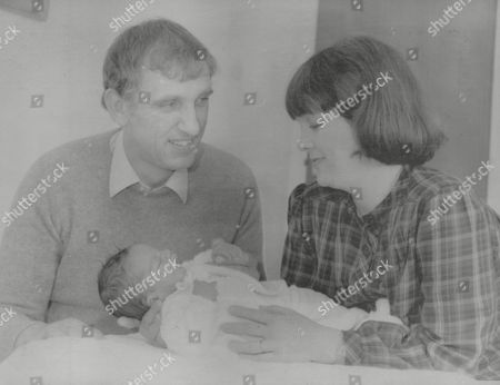 Stock Image of Carol Danes And Husband Bob With Newborn Daughter Susannah. The Couple Met When Bob An Raf Winchman Rescued Carol From A Sea Plane Crash In Which Her Husband John Spiers And Their Two Young Children Died. In 1976 Carol Was The Main Beneficiary From The Will Of Artist L. S. Lowry. Box 772 713071726 A.jpg.