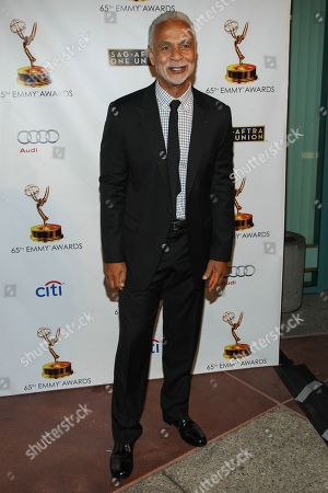 "Actor Ron Glass arrives at the 65th Emmy Awards Nomination Celebration at the Academy of Television Arts and Sciences in Los Angeles. Glass, the handsome, prolific character actor best known for his role as Ron Harris, the gregarious, sometimes sardonic detective in the long-running cop comedy ""Barney Miller,"" has died at age 71. Glass died, of respiratory failure, his agent, Jeffrey Leavett, told The Associated Press on Saturday"