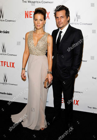 Actress Kate Beckinsale, left, and Len Wiseman arrive at The Weinstein Company and Netflix Golden Globes afterparty in Beverly Hills, Calif. Los Angeles court records show that Wiseman filed for divorce from Beckinsale, citing irreconcilable differences. The couple have been married for 12 years