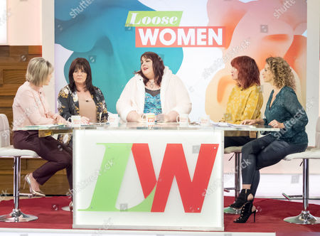 Stock Photo of Ruth Langsford, Coleen Nolan, Alice Young, Janet Street-Porter and Nadia Sawalha