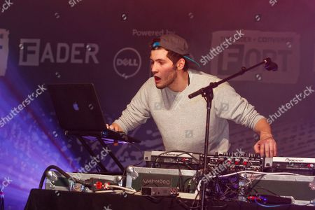 "Baauer performs his hit ""Harlem Shake"" at the Dell Preview Event at the Fader Fort presented by Converse during SXSW on in Austin, Texas"