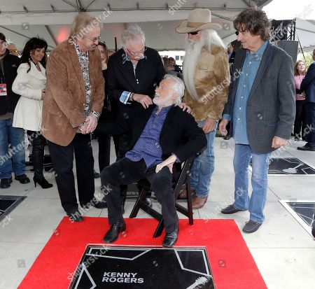 Kenny Rogers, Joe Bonsall, William Lee Golden, Duane Allen, Richard Sterban. Kenny Rogers, seated, talks with the Oak Ridge Boys at his star on the Music City Walk of Fame, in Nashville, Tenn. Rogers received the 80th star on the walk, one day before his farewell concert that's scheduled to be held across the street in Bridgestone Arena. The Oak Ridge Boys are, from left, Duane Allen, Joe Bonsall, William Lee Golden and Richard Sterban