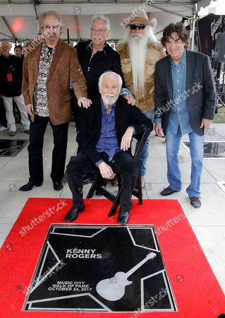 Kenny Rogers, Joe Bonsall, William Lee Golden, Duane Allen, Richard Sterban. Kenny Rogers poses with the Oak Ridge Boys at his star on the Music City Walk of Fame, in Nashville, Tenn. Rogers received the 80th star on the walk, one day before his farewell concert that's scheduled to be held across the street in Bridgestone Arena. The Oak Ridge Boys are, from left, Duane Allen, Joe Bonsall, William Lee Golden and Richard Sterban