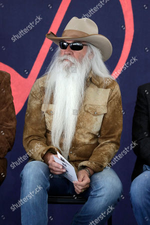 William Lee Golden of the Oak Ridge Boys waits for a ceremony for Kenny Rogers to begin, in Nashville, Tenn