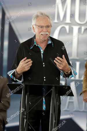 Stock Image of Joe Bonsall of The Oak Ridge Boys attends a ceremony for Kenny Rogers at the Music City Walk of Fame, in Nashville, Tenn