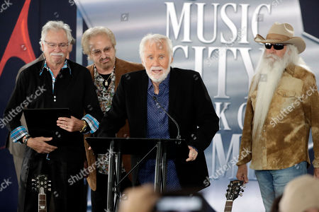 Kenny Rogers, Joe Bonsall, Duane Allen, Richard Sterban. Kenny Rogers speaks during a ceremony for the presentation of his star on the Music City Walk of Fame, in Nashville, Tenn. Rogers received the 80th star on the walk, one day before his farewell concert that's scheduled to be held across the street in Bridgestone Arena. Behind Rogers are Joe Bonsall, left; Duane Allen, second from left; and William Lee Golden, right; of The Oak Ridge Boys