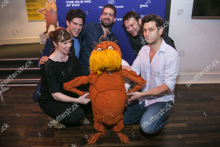 Laura Caldow (The Lorax), Charlie Fink (Music/Lyrics), Max Webster (Director), David Greig (Adaptation) and David Ricardo-Pearce (The Lorax) with The Lorax