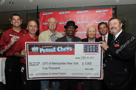 Editorial picture of Goldenberg's Peanut Chews Kick Off Celebration for Holidays for Heroes, New York, USA - 24 Oct 2017
