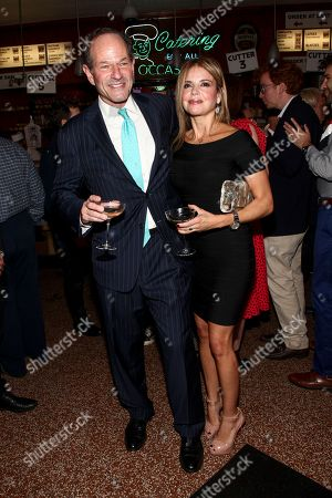 Eliot Spitzer, Roxana Girand. Eliot Spitzer, left, and Roxana Girand, right, attend New York Magazine's 50th Anniversary Celebration at Katz's Delicatessen, in New York