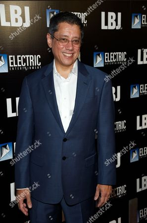 "Electric Entertainment CEO Dean Devlin poses at the premiere of the film ""LBJ"" at the ArcLight Hollywood, in Los Angeles"