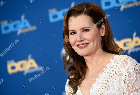 """Actress Geena Davis poses at the 68th Directors Guild of America Awards at the Hyatt Regency Century Plaza in Los Angeles. Two series based on big-screen hits will be part of Fox's new TV season. The network said, it's ordered """"Lethal Weapon"""" starring Damon Wayans Sr. and """"The Exorcist"""" with Davis for the 2016-17 season"""