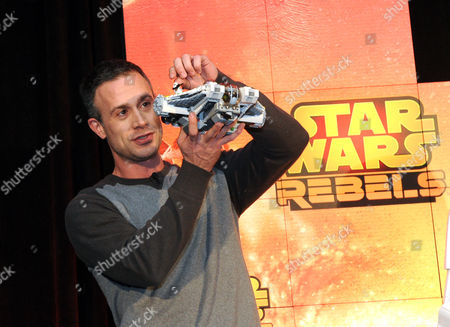 Actor Freddie Prinze, Jr., voice of Kanan, holds Star Wars Rebels Ghost Ship, as Disney Consumer Products unveils an innovative assortment of toys inspired by the upcoming animated TV series Star Wars Rebels,, at the American International Toy Fair in New York