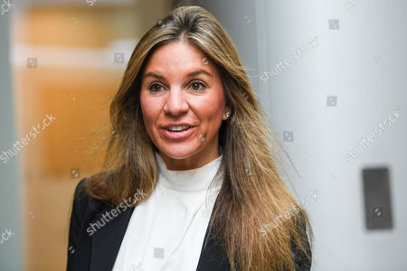 Nathalie Dauriac-Stoebe arrives at High Court in London where she claims wrongful dismissal by Phones 4u billionaire founder John Caudwell, and that she was cheated out of shares.