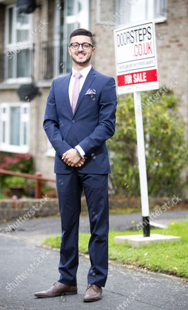 Stock Photo of Young estate agent Akshay Ruparelia,  He is the youngest multi-millionaire in the UK.