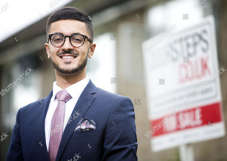 Stock Picture of Young estate agent Akshay Ruparelia,  He is the youngest multi-millionaire in the UK.