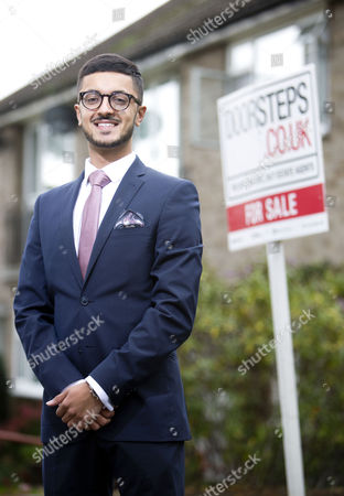Stock Image of Young estate agent Akshay Ruparelia,  He is the youngest multi-millionaire in the UK.