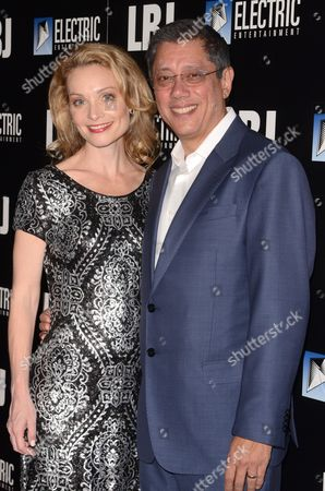 Stock Picture of Lisa Brenner and Dean Devlin