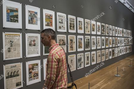 Stock Photo of Hans-Peter Feldmann, 9/12 Frontpage, 2001 - Age of Terror: Art since 9/11 a new exhibition at the Imperial War Museum.