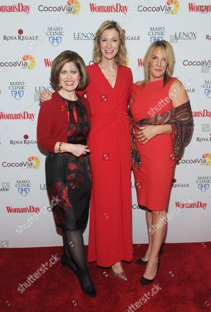 Nancy Brown, left, CEO, American Heart Association, poses with Susan Spencer, center, Editor-in-Chief, Woman's Day Magazine, and honoree Dr. Kathy Magliato, cardiothoracic surgeon and AHA board member, at Woman's Day Red Dress Awards, benefitting AHA's Go Red For Women, in New York