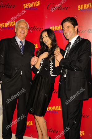 Resident and CEO of Cartier International Bernard Fornas, Demi Moore and President and CEO of Cartier North America Frederic de Narp