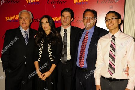 President and CEO of Cartier International Bernard Fornas, aDemi Moore, President and CEO of Cartier North America Frederic de Narp, and Founder and CEO of Be The Change Inc. Alan Khazei