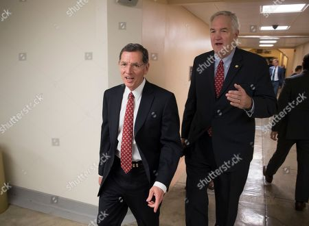 John Barrasso, Luther Strange. Senator John Barrasso, R-Wyo., chairman of the Senate Environment and Public Works Committee, left, and Senator Luther Strange, R-Ala., leave the Senate following a vote at the Capitol in Washington, . Senator Barrasso's committee voted along party lines Wednesday to advance President Donald Trump's picks for key posts at the Environmental Protection Agency over the objections of Democrats who pointed to the nominees' past work for corporate clients they would now regulate