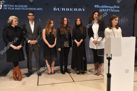 Breakthrough Brits - Hope Dickson Leach, Henry Hoffman, Molly Windsor, Chloe Thomson, Sarah Quintrell and Mahalia Belo with Jenna Coleman