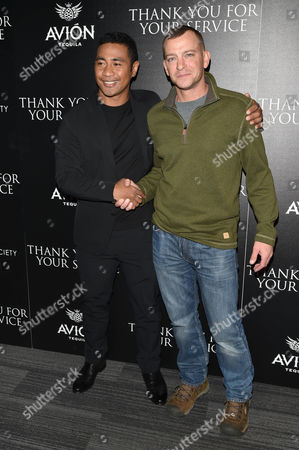 Editorial picture of 'Thank You For Your Service' film screening, Arrivals, New York, USA - 25 Oct 2017