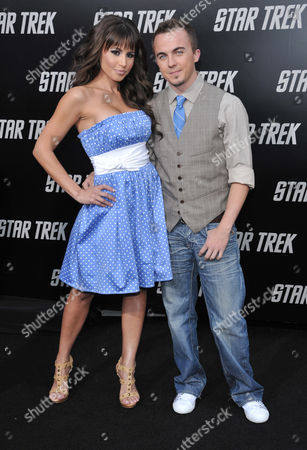 Stock Picture of Frankie Muniz and girlfriend Elycia Turnbow