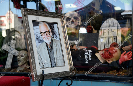 Stock Picture of A portrait of the late director George A. Romero