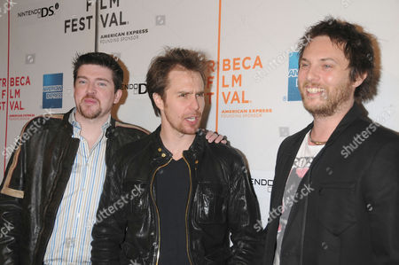 Stock Picture of Stuart Fenegan, Sam Rockwell and Duncan Jones