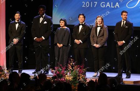 Stock Image of Princess Grace Film Award Winners, Daniel Chein, Malik Ford, Pamela Guest, Huay-Bing Law, Megan Rossman and Reed Van Dyk