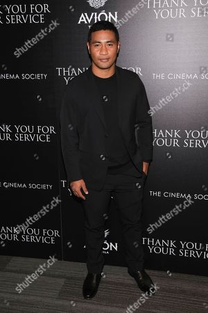 """Actor Beulah Koale attends a special screening of """"Thank You for Your Service"""" at The Landmark at 57 West, in New York"""