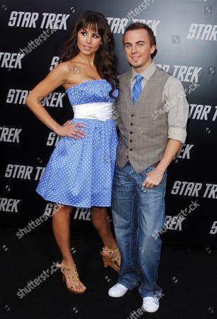 Stock Photo of Frankie Muniz and girlfriend Elycia Turnbow