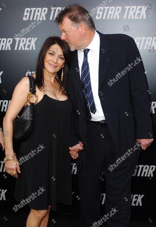 Marina Sirtis and Jonathan Frakes