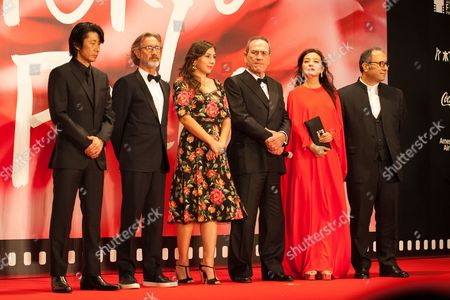 Members of the International Competition Jury, Masatoshi Nagase, Martin Provost, Victoria Jones, Tommy Lee Jones, Vicki Zhao Reza Mirkarimi