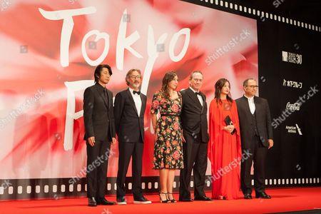 Members of the International Competition Jury, Masatoshi Nagase, Martin Provost, Victoria Jones, Tommy Lee Jones, Vicki Zhao, Reza Mirkarimi