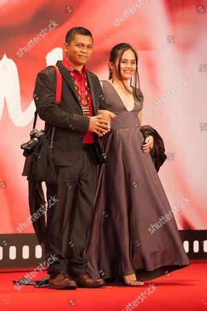 Stock Photo of Yasmin-san, Edmund Yeo, Director, Sharifa Amani, Actress